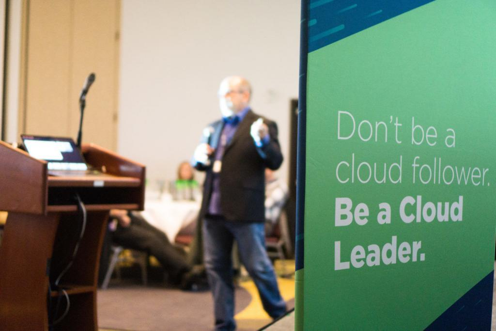 AWS Senior Security Partner Strategist, Tim Sandage, at Cloud Leaders Portland 2018
