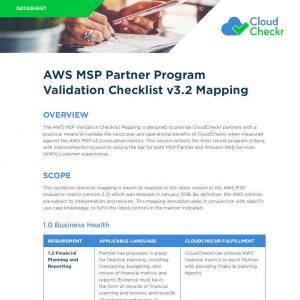 aws partner checklist msp preview