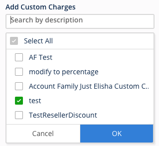 Custom Charges