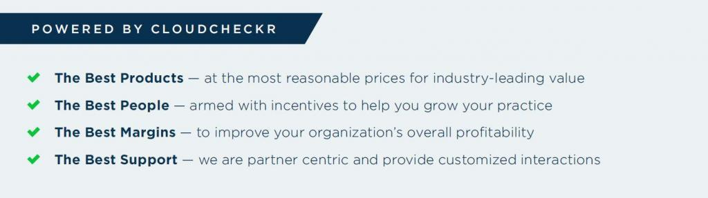 Powered by CloudCheckr program benefits