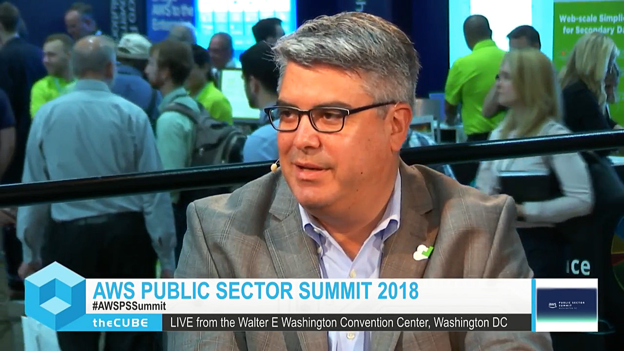 Jeff Valentine at AWS Public Sector Summit 2018