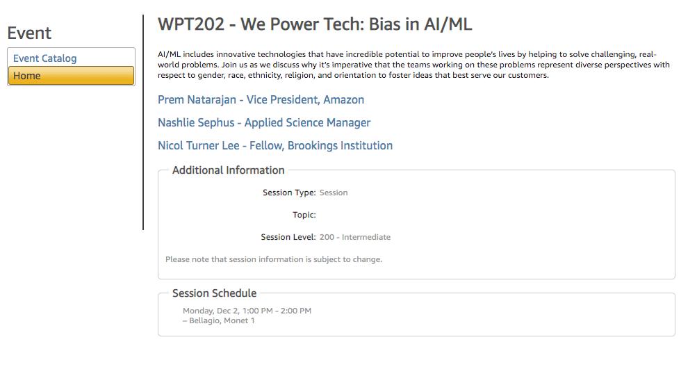 amazon reinvent session schedule