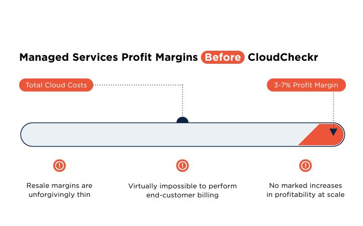 graph showing profit margins with cloudcheckr