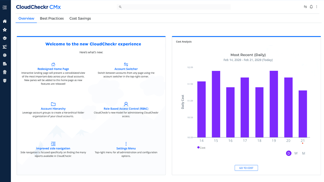 cloudcheckr cmx opening dashboard image