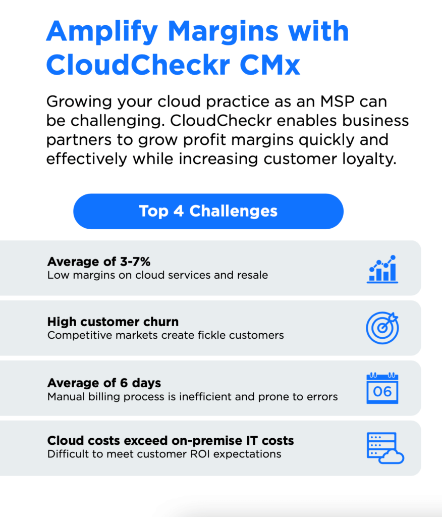 Four challenges MSPs face when trying to grow their business and how they can amplify cloud margins with CloudCheckr