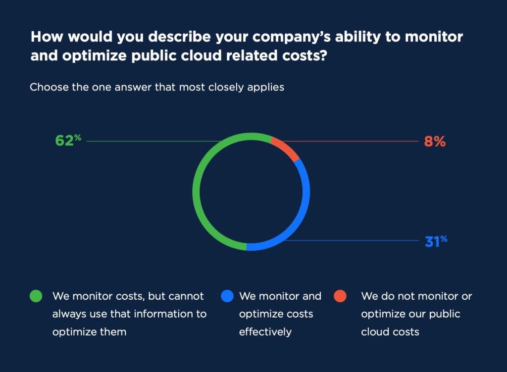 How effectively do enterprises monitor and optimize their public cloud costs?